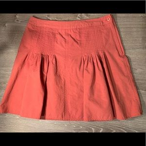 Sitwell Anthropology Salmon Coral Skirt Sz 8